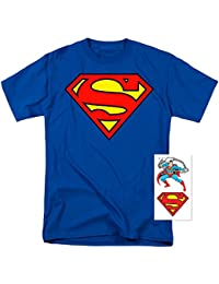 Superman Classic Logo T Shirt & Exclusive Stickers