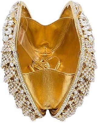 XLJJB Pochette da Donna con Diamanti E Pochette di Zucca Svuotano Le Borse da Sposa E Le Borse Borsa da Sposa in Cristallo da Sposa 2