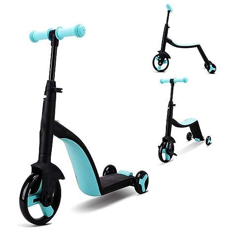 QYHSS 3 en 1 Scooter de Patinetes para niños, Patinete ...