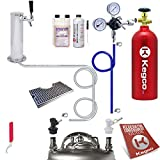 pressurized beer line cleaner - Kegco KC EBUTCK-BLCP-5T Ultimate Tower Kegerator Conversion Kit Ball Lock with 5lb Tank, Stainless Steel