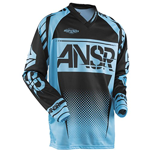 (Answer Racing A17.5 Syncron Boys Off-Road Motorcycle Jerseys - Blue/Black/Large)