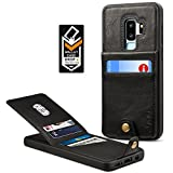 Samsung Galaxy S9 Plus Wallet Case for Galaxy S9 Plus Credit Card Case Spaysi Galaxy S9 Plus Leather Wallet Case Magnetic Closure Kickstand Gift Box for S9Plus (Black)