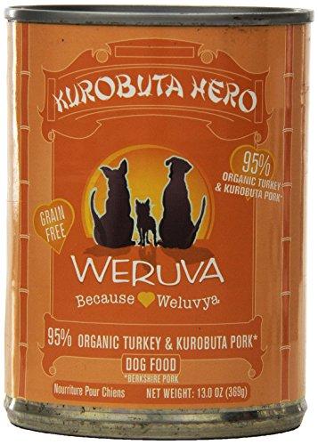 Weruva Dog Food, Kurobuta Hero with Kurobuta Pork & Organic Turkey, 12.8oz Can (Pack of 12)