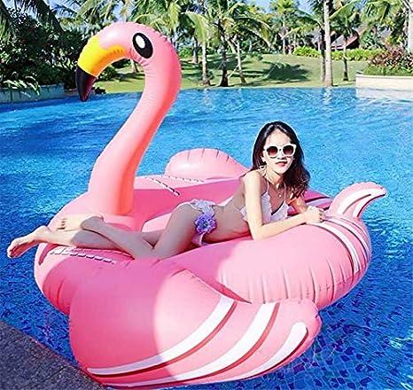 lacool Gigante Hinchable Flamingo Baño Isla Aire Colchón ...