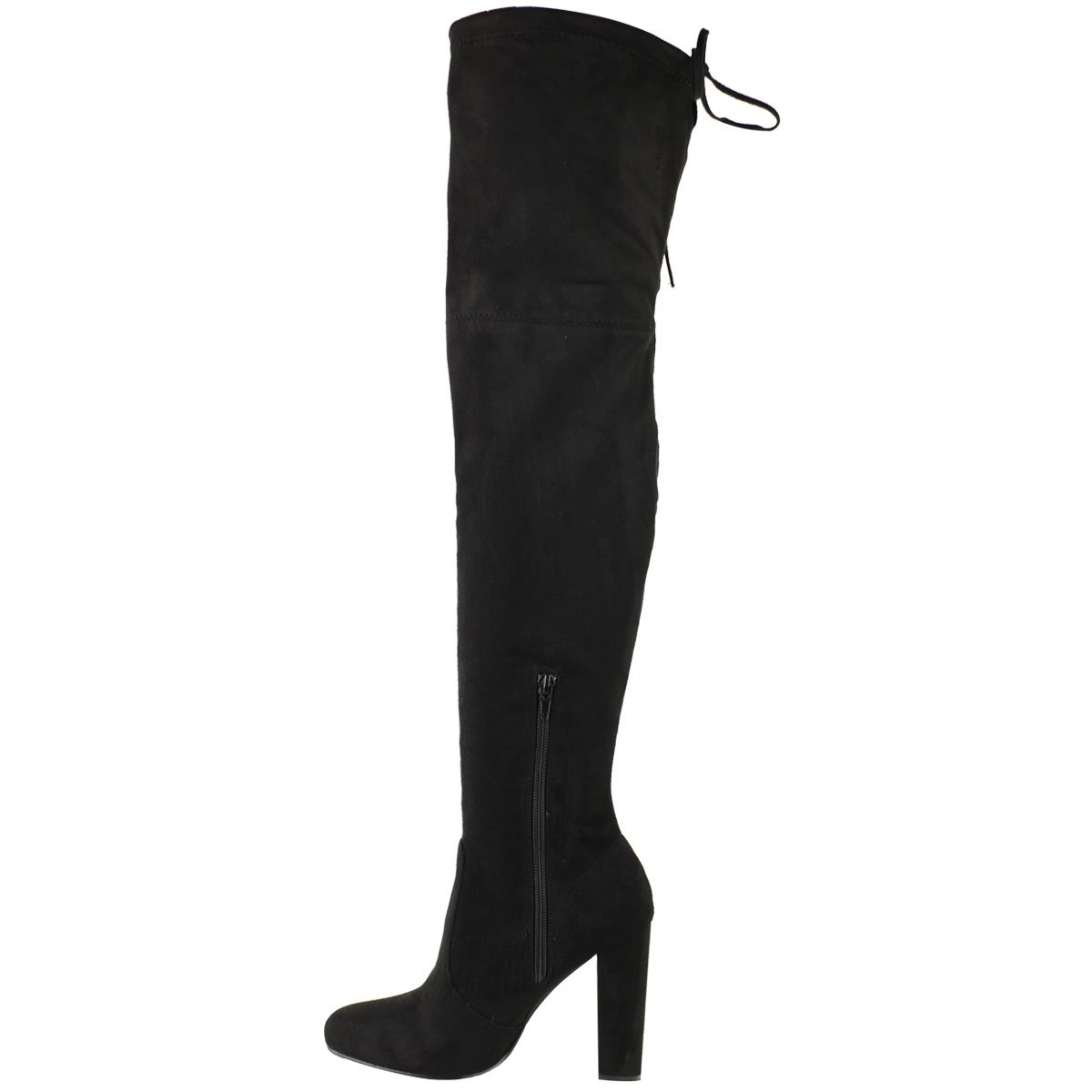 82cacf42c72 Amazon.com  Fashion Thirsty Womens Thigh High Boots Over The Knee Party  Stretch Block Mid Heel Size  Clothing