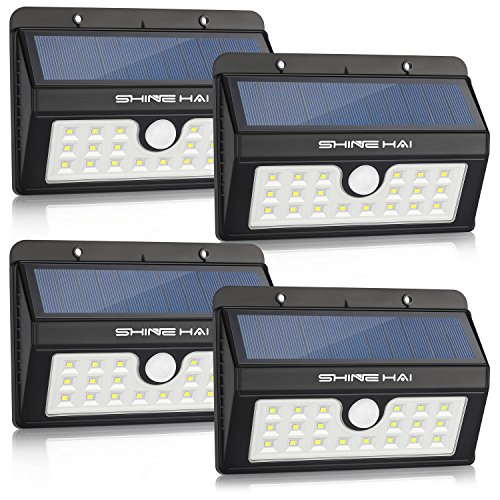 Cheap SHINE HAI Solar Lights Outdoor, Wireless Motion Sensor Wall Lighting, 20 LEDs Waterproof Security Light for Patio, Garden, Yard, Deck, Garage with Dusk-to-Dawn Photocell, 4-Pack