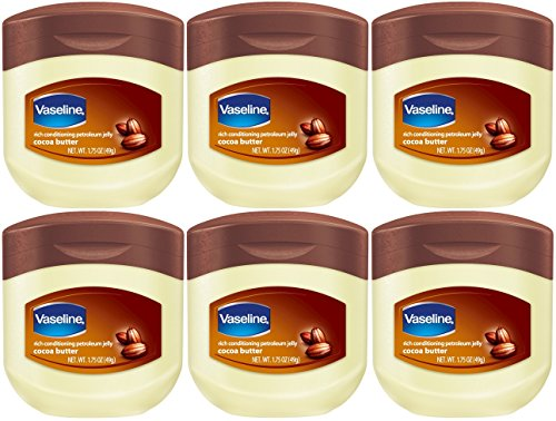 Price comparison product image Vaseline Petroleum Jelly Cocoa Butter 1.75 Ounce (Pack of 6)