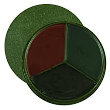 Fox Outdoor Products 3-Color GI Style Compact Face Paint, Woodland Camouflage