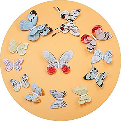 Amazon.com: Efavormart 36 Pack 3D Double Wing DIY Butterfly Wall ...