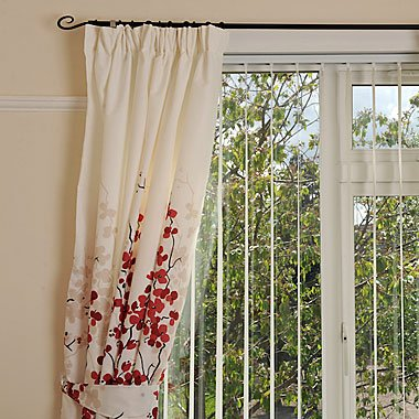 Superb Oriental Flower Lined Curtains