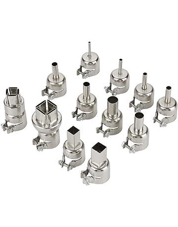 12 piezas de boquillas de pistola de calor de acero para la herramienta de reparación de