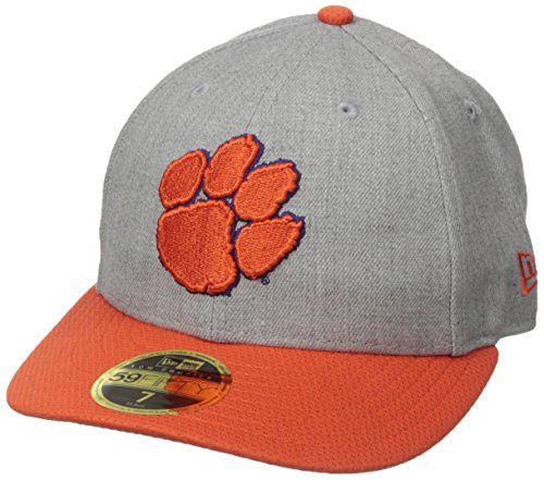 Ncaa New Era - New Era NCAA Clemson Tigers Adult Change Up Redux Low Profile 59FIFTY Fitted Cap, 7 1/8, Heather Gray