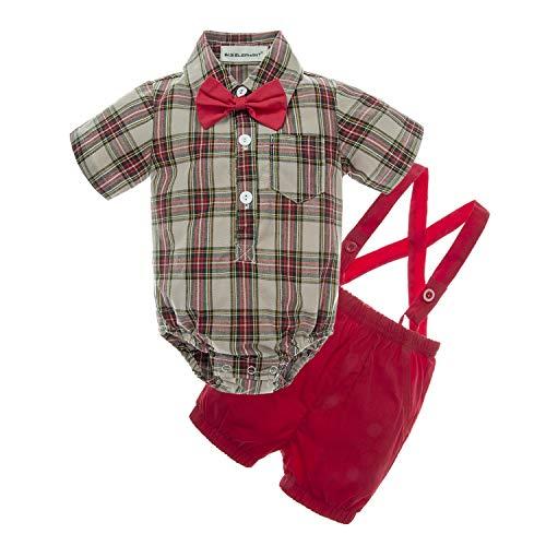BIG ELEPHANT Baby Boys' 2 Piece T-Shirt Suspender