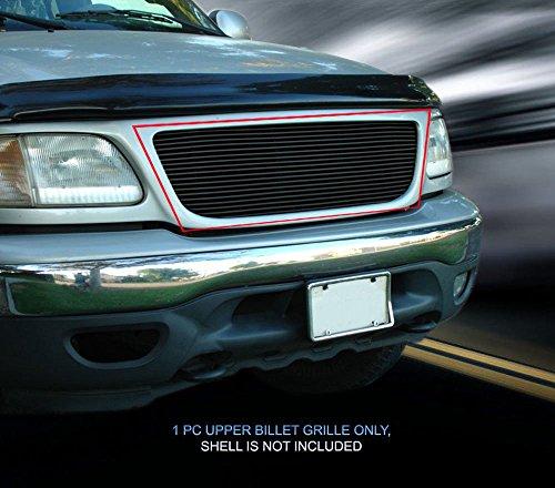Billet Grille Grill Insert Fits 99-03 Ford F150/Lightning/Harley Davidson Aluminum Black #F85072H (03 Ford F150 Billet Grille)