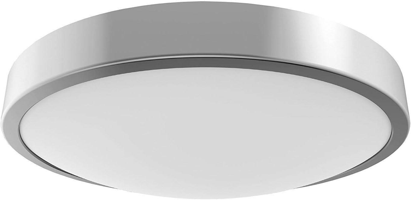 Luz de techo LED para baño, de plata, impermeabilidad IP44, zona 1 ...