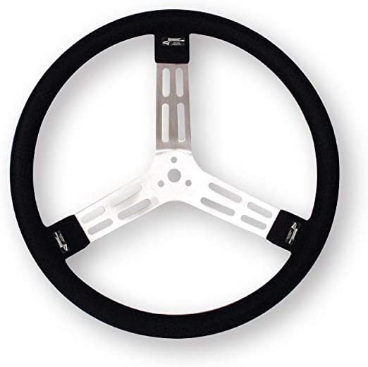 Longacre 56803 Aluminum Steering Wheel with Smooth Grip