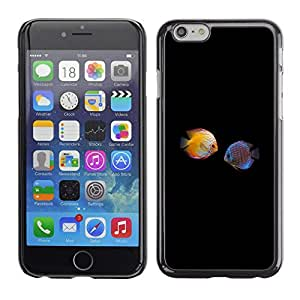 Stuss Case / Funda Carcasa protectora - Fish Love Black Minimalist Diving Coral - Apple Iphone 6 Plus 5.5