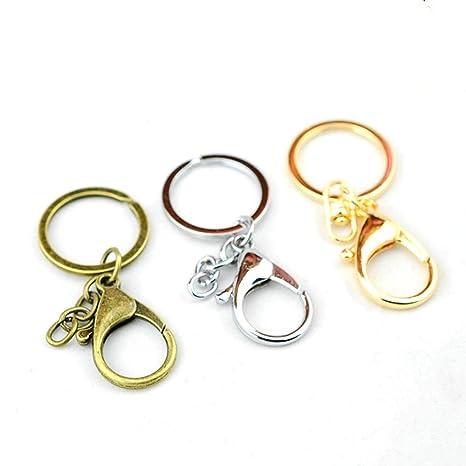YSY Metal Langosta Broche cordón Llavero llaveros DIY,Gold ...