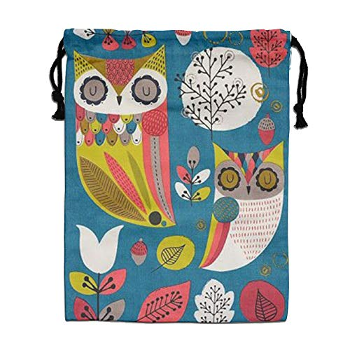CMTRFJ Personalized Drawstring Bag-Owl Holiday/Party/Christmas Tote Bag by CMTRFJ