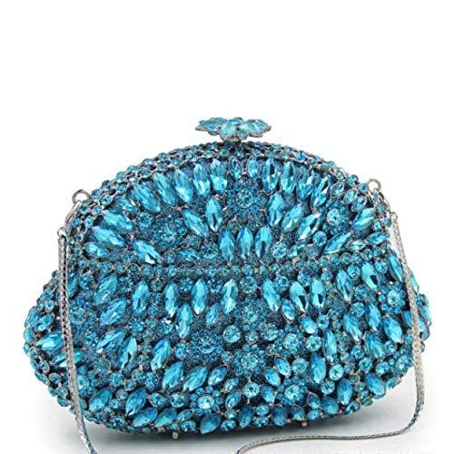 High Blue Wallet Bag Luxury Ladies Crystal Dinner Bag Handbag Diamond Clutch Banquet End xxgaAq