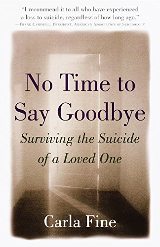 No Time to Say Goodbye: Surviving The Suicide Of A Loved One (Art Masters Modern Fine)