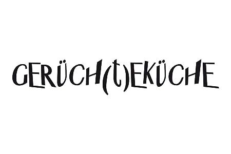 universumsum Wandtattoo Küche Gerüchteküche brillantblau 100 x 18 cm ...