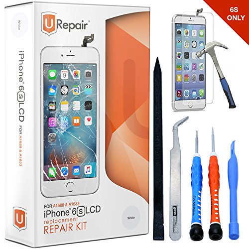 iPhone 6s Screen Replacement White LCD Premium Complete Repair Kit with Tools -Easy Manuals Videos and Instructions,3D Touch 6s - ONLY FOR iPHONE 6S by uRepair