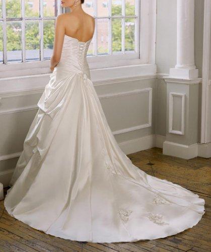 Brautkleider Dearta Damen Kleidungen Meerjungfrau Herz Satin Weiß Ausschnitt Schleppe Kapelle ZPfqBwH