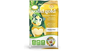 Solid Gold - Holistique Blendz with Oatmeal, Pearled Barley & Ocean Fish Meal - Holistic Sensitive Stomach Dry Dog Food for Adult & Senior Dogs - 28.5lb Bag