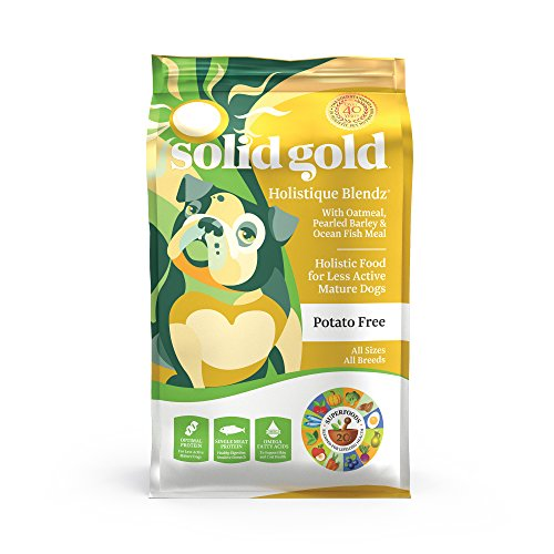Solid Gold - Holistique Blendz - Natural Senior Dog Food for Sensitive Stomachs - Oatmeal, Pearled Barley and Fish Meal - 4 lb