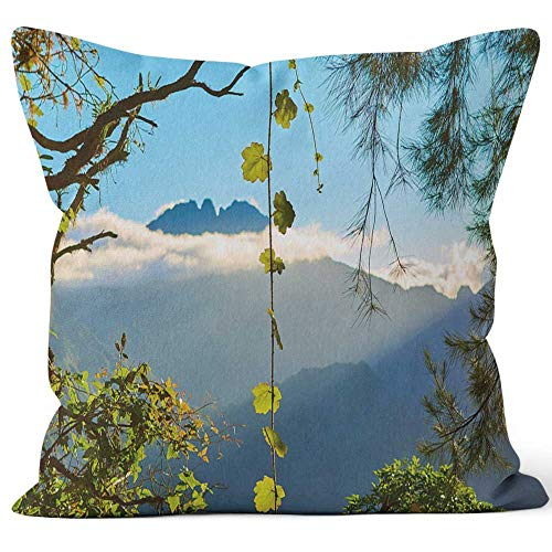 Nine City Salazie Cirque Hell Bourg Throw Pillow Cover,HD Printing for Sofa Couch Car Bedroom Living Room D¨¦cor