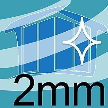Homedeco-24 2 mm Starkes und stabiles Kunstglas 70 x 70 cm Acrylglas Kunststoffglas Ersatzglas Zuschnitt Polystyrol Klar Transparent
