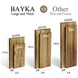 BAYKA Floating Shelves Wall Mounted, Rustic Wood