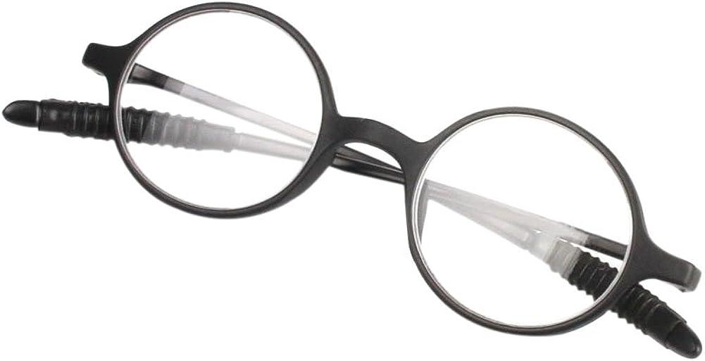 Huicai Lunettes de lecture r/étro femmes hommes rond cadre lunettes presbytie hyperm/étropie lunettes