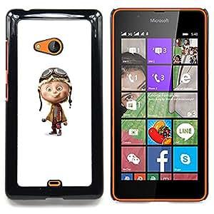 Stuss Case / Funda Carcasa protectora - Piloto de Avión blanco personaje hijos de - Nokia Lumia 540