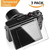 Glass Screen Protector for Canon G7X Mark II G9X G9XII G7X G5X, Kimilar 3 Packs Anti-scratch Waterproof [Clear Touch] 9H Tempered Glass Screen Protection for G9X G9XII G7X G7XII G5X DSLR Camera