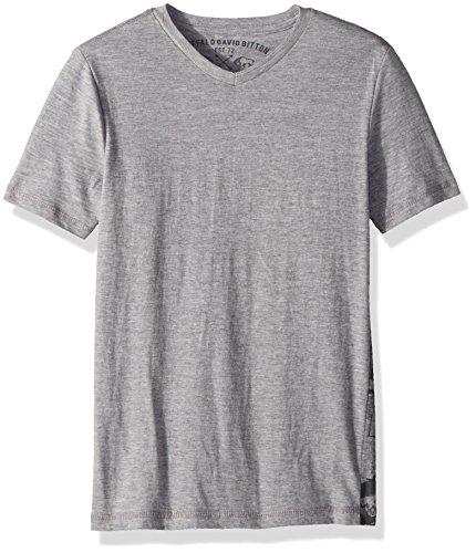 Graphic Cotton Short Sleeve Tee - Buffalo by David Bitton Big Boys' Short Sleeve Graphic Tee Shirt, eran Grey Heather, Medium (10/12)