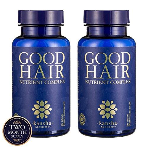 2-Pack Good Hair Vitamins + DHT Blocker, Saw Palmetto - Stop Hair Loss & Grow Longer, Stronger, Healthier Hair, Men/Women, 120 Tabs