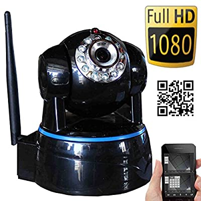 JYtrend (TM) Powered By/ Wansview Wireless IP Camera - Security HD 1080P Pan Tilt, 2 Way Audio, PLUG AND PLAY, Free App