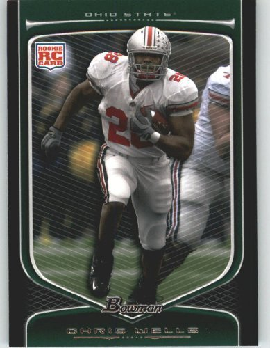 2009 Topps Draft Picks - Chris Wells RC - Ohio State (RC - Rookie Card) 2009 Bowman Draft Picks Football Cards #121 - NFL Trading Card