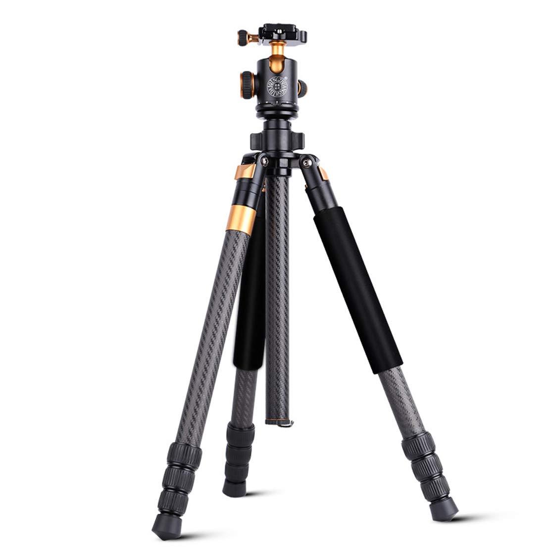 直営店に限定 カメラ カメラ 三脚 旅行適応のために適した炭素繊維の物質的な軽量1.6kg高さ160cm Slr DSR Slr DSR キヤノンソニーニコンなどの機器(推奨荷重3-10kgブラック) B07QVPGJC6, 産山村:e3603c48 --- martinemoeykens.com