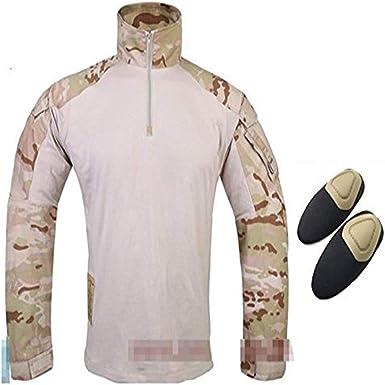 ATAIRSOFT Camiseta táctica Militare con Coderas para Airsoft ...