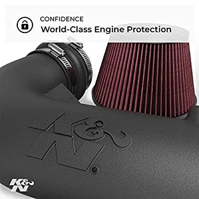 K&N Cold Air Intake Kit: High Performance, Guaranteed to Increase Horsepower:  2014-2020 Ford Fusion, 1.5L L4, 63-2588: Automotive