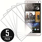 MPERO Collection 5 Pack of Clear Screen Protectors for HTC One mini