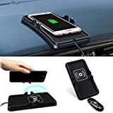 htc 8x car charger - Allstrying Wireless Car Charger, Car Dashboard Phone Holder Pad Holder Silicone Pad Anti Slip Mat Wireless Charger for iPhone X,iPhone 8/Plus Samsung Galaxy S8/S8+, S7/S7 Edge ,LG Nexus4/5/6,Nokia