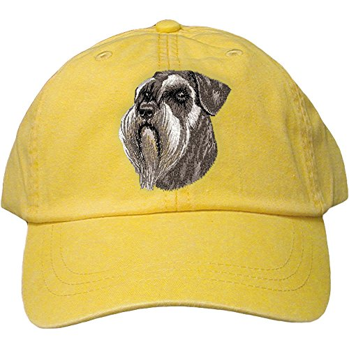 Cherrybrook Dog Breed Embroidered Adams Cotton Twill Caps - Lemon - Schnauzer ()