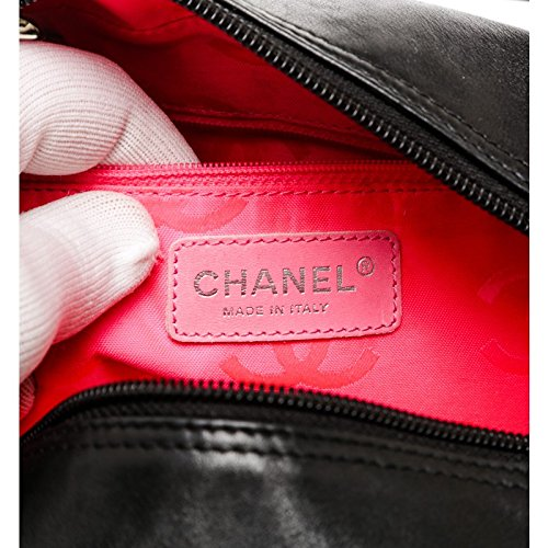 bdbed7d4ccde0d Chanel Pre-Owned Black Quilted Lambskin Leather Cambon Bowler Bag: Amazon.co .uk: Luggage