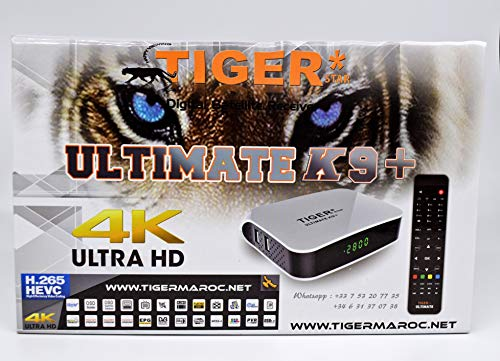 Tiger Ultimate K9 Plus 4K | Digital Receiver - Satellite & IPTV Receiver |  24 Months subscription to Vanilla Pro Satellite Server and 12 Months Atlas