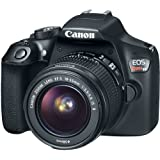 Canon EOS Rebel T6 Digital SLR Camera Kit with EF-S 18-55mm f/3.5-5.6 is II Lens, Built-in WiFi and NFC - Black (Certified Refurbished) 2 Year Warranty)