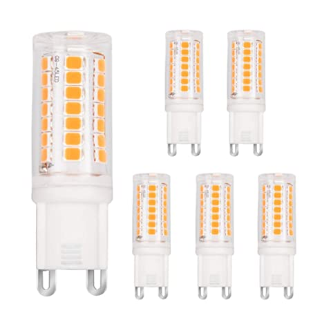 Zoo yaue 6 Pack G9 Bombilla LED, no parpadea, (3 W, equivale